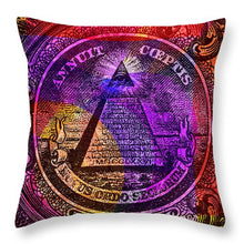 The Color Of Mason Money Close Up 1 Dollar Us 5  - Throw Pillow