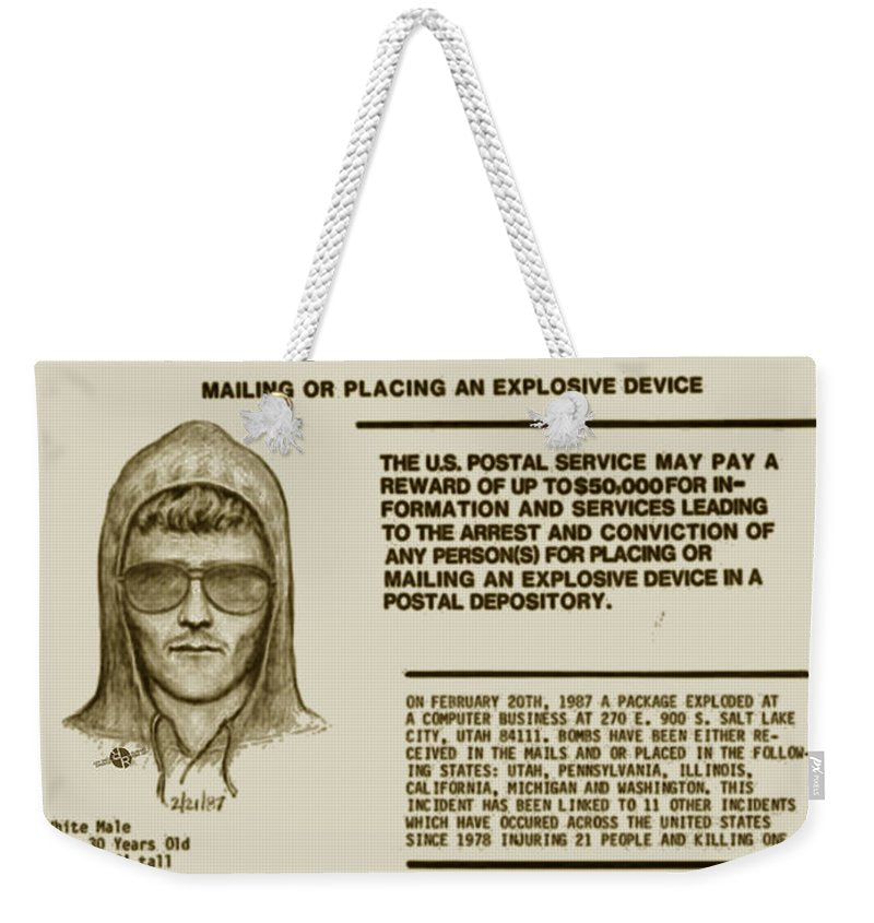 Unabomber Ted Kaczynski Wanted Poster 2 - Weekender Tote Bag
