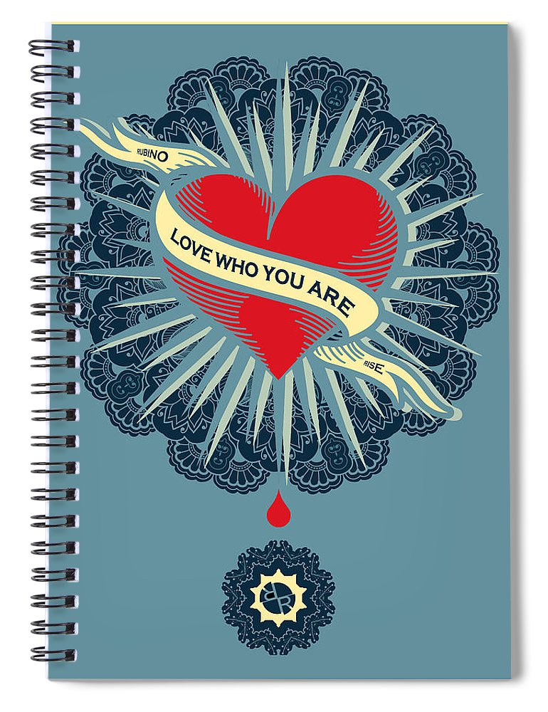 Vector Ornamental Round Lace With Damask And Arabesque Elements. - Spiral Notebook