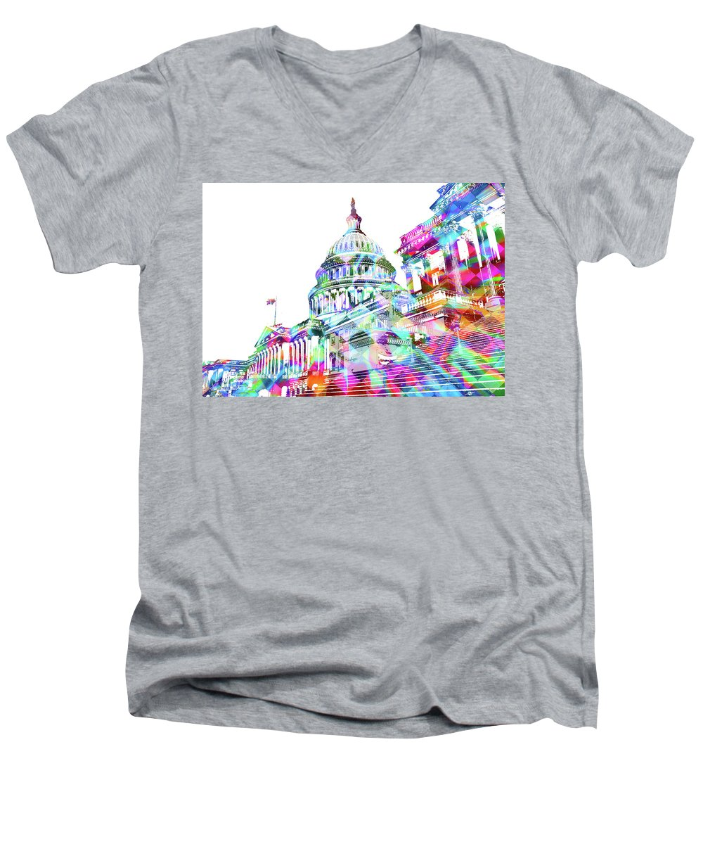 Washington Capitol Color 2 - Men's V-Neck T-Shirt