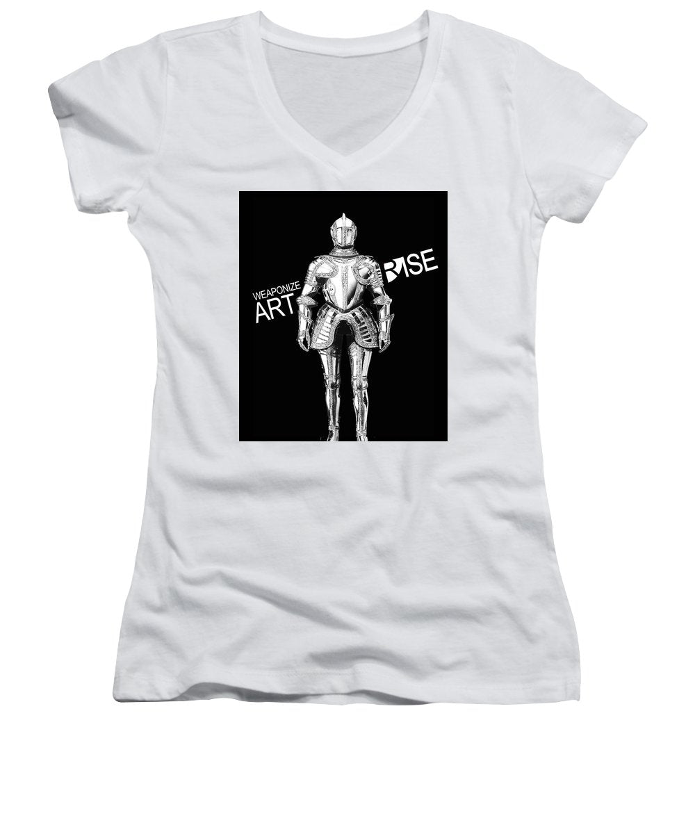 Rise Weaponize Art - Women's V-Neck (Athletic Fit)