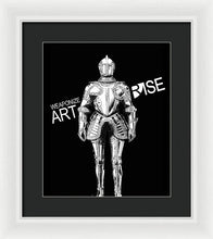 Rise Weaponize Art - Framed Print