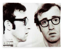 Woody Allen Mug Shot For Film Character Virgil 1969 Sepia - Blanket