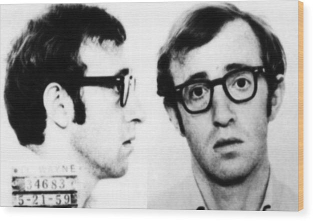 Woody Allen Mug Shot For Film Character Virgil 1969 - Wood Print