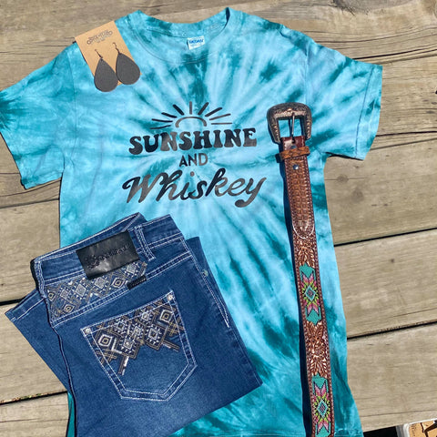 Sunshine and Whiskey graphic tee - 1 off/  Small