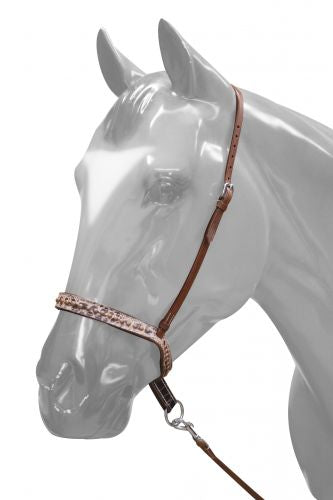 Adjustable Brown Alligator Noseband and Tie Down.