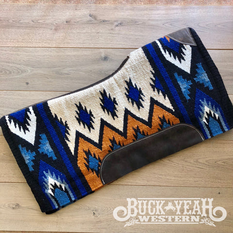 "34"" x 36"" Royal Blue memory felt bottom saddle pad."
