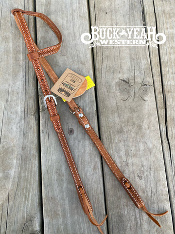 Argentina cow leather one ear headstall