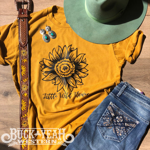 Mustard Sunflower Graphic Tee