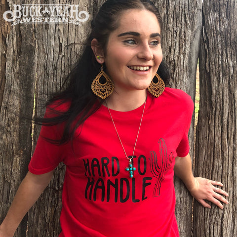 Red Hard to Handle Graphic Tee