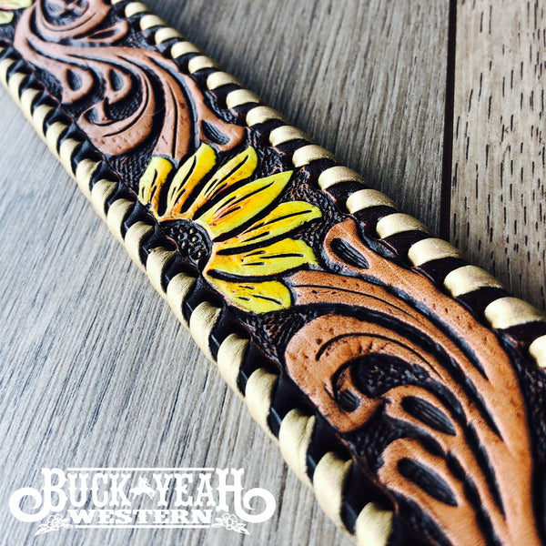Rafter T Ranch Breast Collar- Painted Sunflower