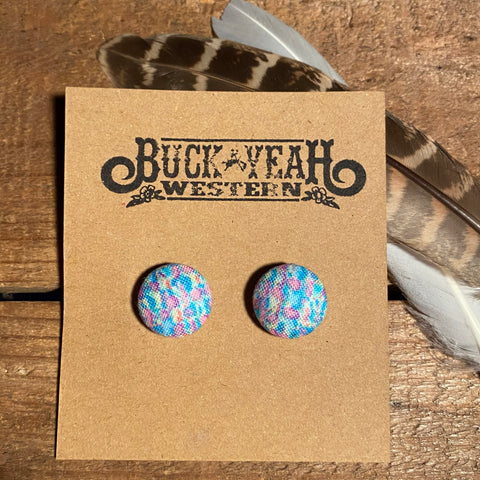 15mm Fairy Floss Fabric Earrings