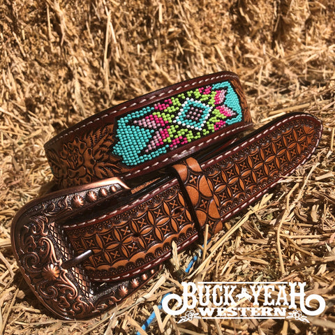 Turquoise Dream Beaded Belt