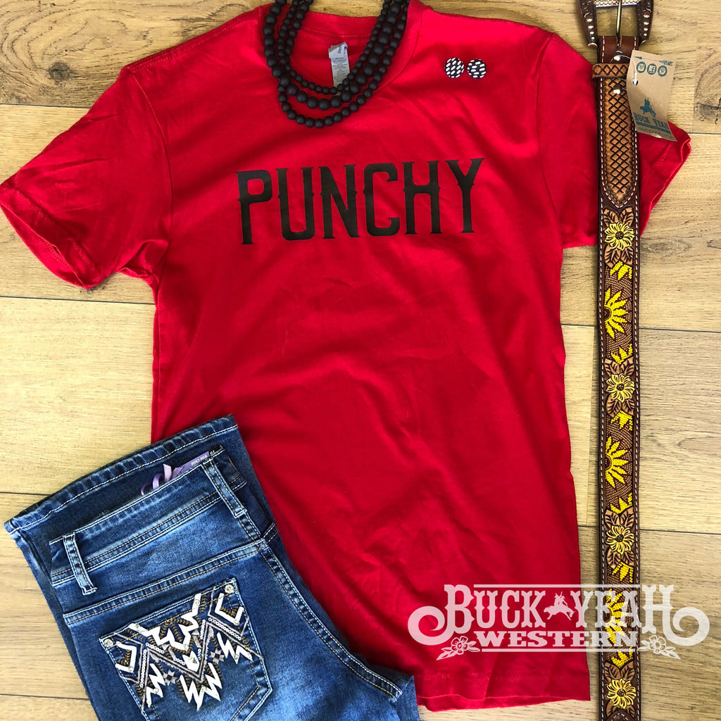 Red Punchy Graphic Tee
