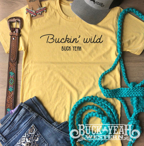 Mellow Yellow Buckin Wild Graphic Tee