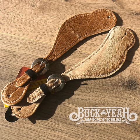 Ladies Leather Cowhide spur straps