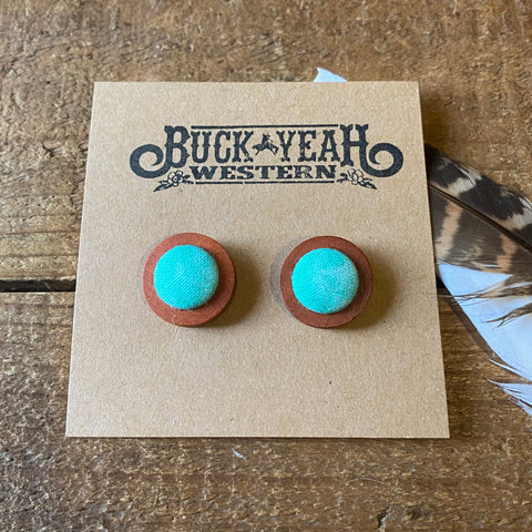 18mm Mint WashTimber Earrings