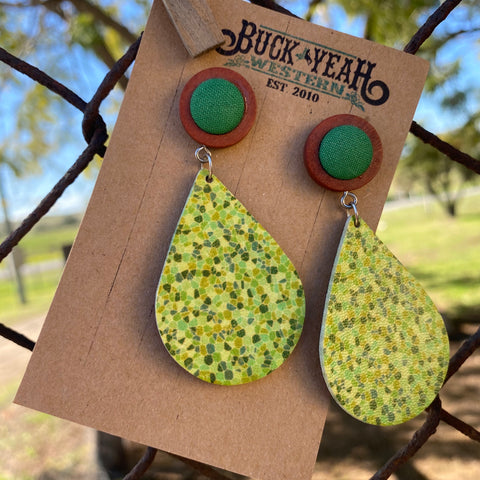 Dreaming of Green Dangle Earrings