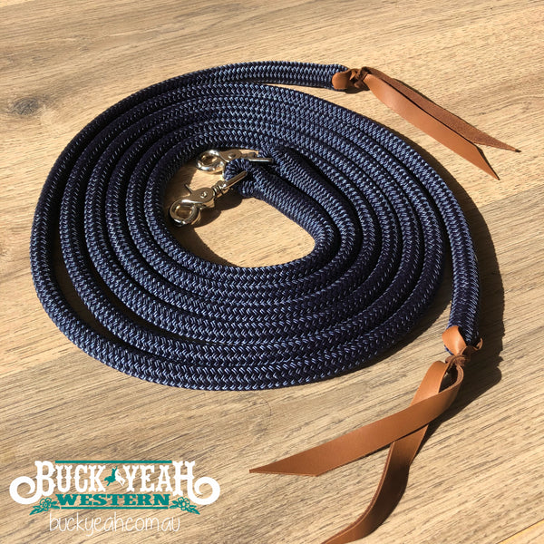 7ft split reins 12mm