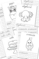 ABC Cursive Handwriting Practice Sheets {52 pages}