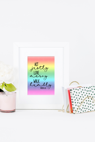 Rainbow Scripture Wall Art