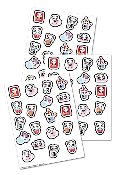 Adorable Panda Planner Stickers