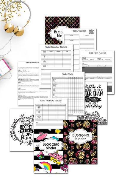 Blogging Binder - Inspirational 2021 Version {200+ pages}