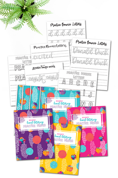 Bounce Hand Lettering Practice Binder {200+ pages}