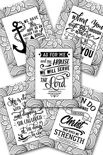 Christian Waves Coloring Sheets Pack