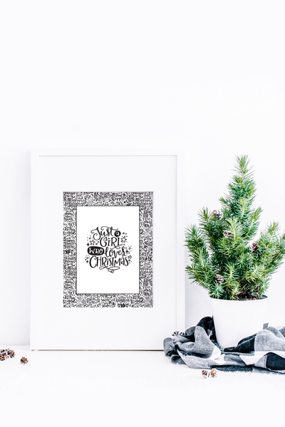 Christmas Hand Lettered Wall Art