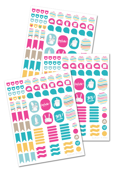 Cleaning Binder Stickers