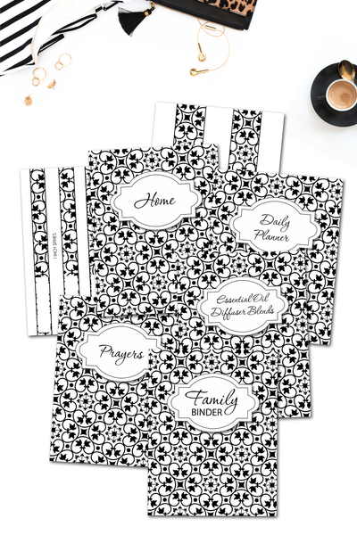 Coloring Swirls Binder Covers & Dividers Pack {36 pages}