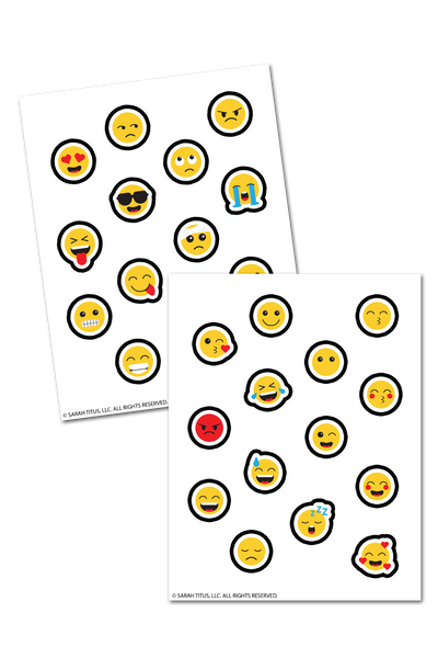 Emoticon Planner Stickers