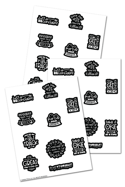 Encouraging Coloring Planner Stickers