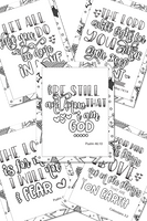Encouraging Scripture Coloring Sheets