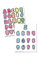 Fun Colorful Alphabet and Numbers Planner Stickers