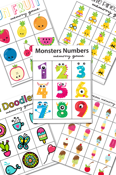 Fun Memory Games Pack {5 games}