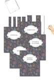 Gray Flowers Binder Covers & Dividers Pack {36 pages}