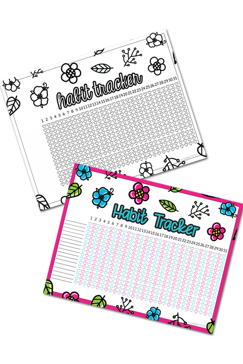 Habit Trackers (B/W and Color)