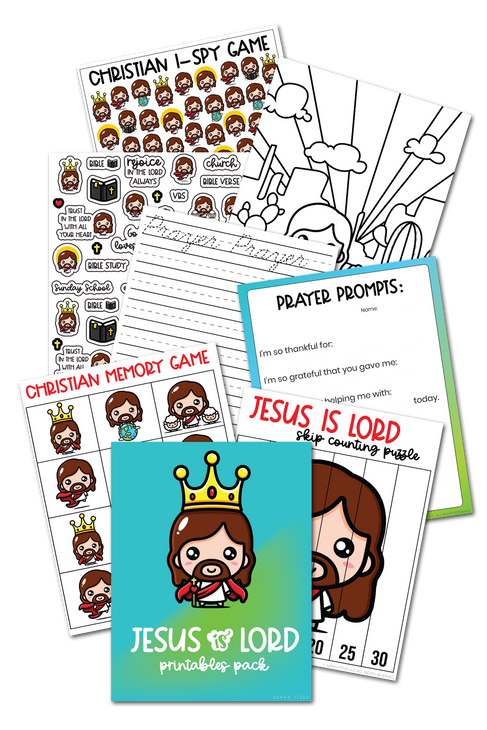 Jesus is Lord Printables Pack {30 Pages}