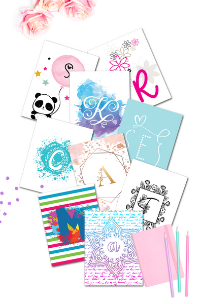 Monogram Wall Art Binder 2 {1200+ pages}