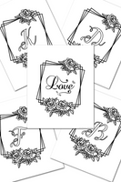 30 Monogram Colorable Wall Art Printables for Weddings