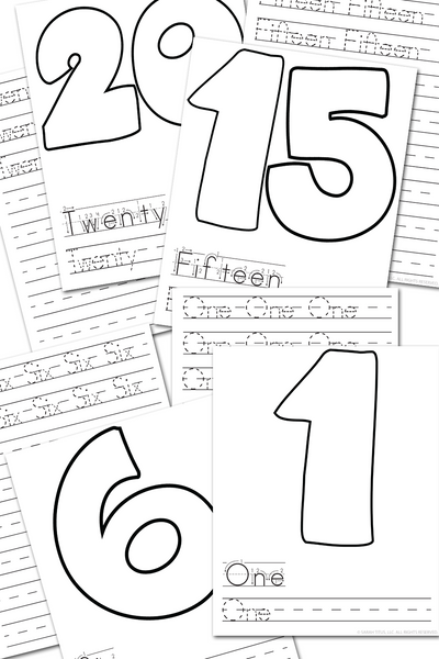 Numbers 1-20 Handwriting Practice Sheets {40 pages}