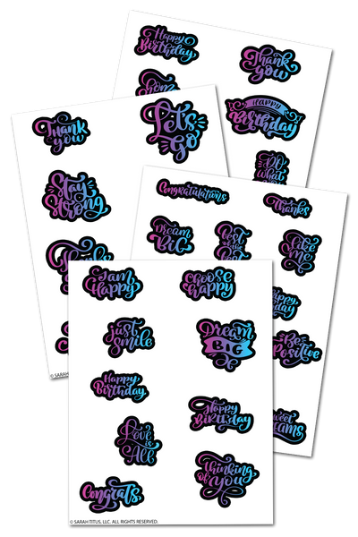 Rainbow Inspirational Planner Stickers