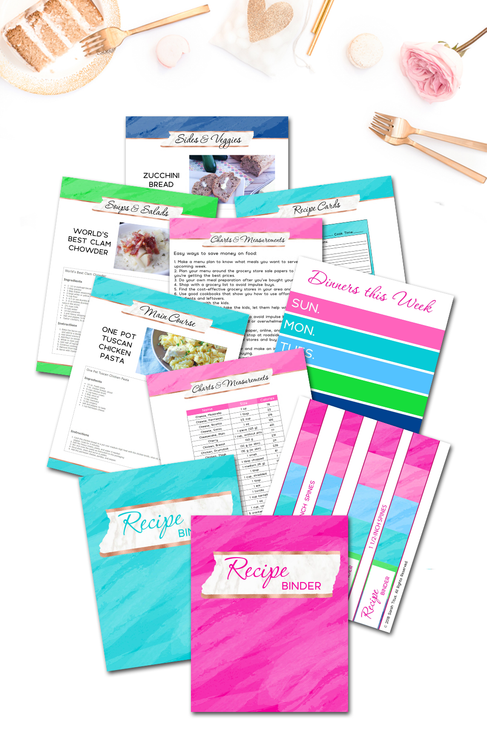 Recipe Binder {160+ pages)