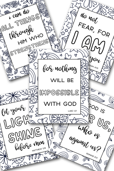 Scripture Coloring Sheets Pack