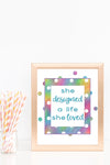 Inspirational Colorful Wall Art (Set of 4 Quotes)