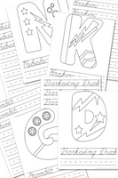 Superhero ABC Cursive Handwriting Practice Sheets {52 pages}