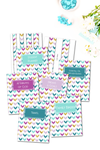 Teal and Purple Arrows Binder Covers & Dividers Pack {36 pages}