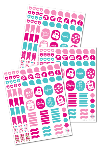 Valentine Binder Stickers